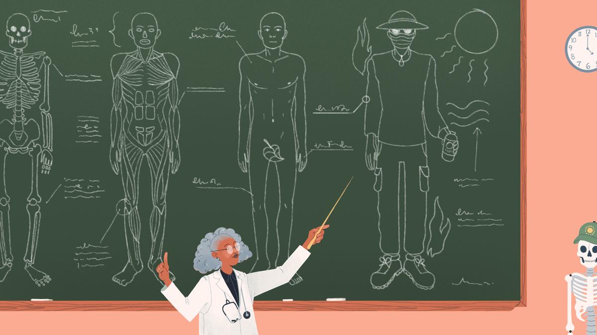 Um esforço recente, apoiado pela American Medical Association, incentivou o ensino de estudantes de medicina sobre os riscos à saúde associados ao aquecimento do planeta.