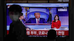 Reaction To Trump's Infection: Sympathy In South Korea, Some Schadenfreude In China