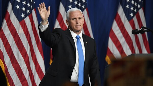 Pence is next in line to succeed to the presidency should President Trump