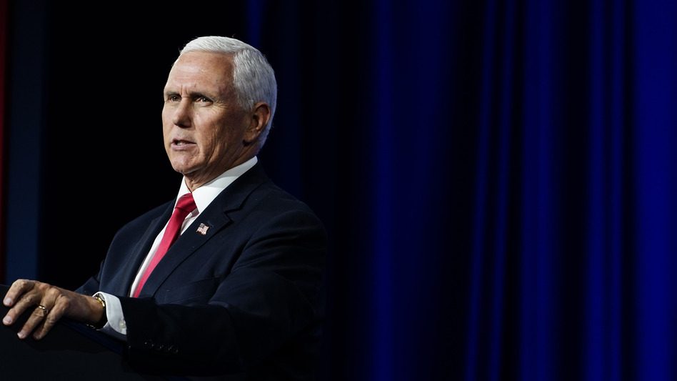 Vice President Mike Pence speaks during a Faith and Freedom Coalition policy conference on Wednesday, Sept. 30 in Atlanta. (Brynn Anderson/AP)