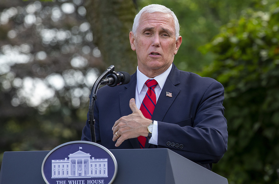 Vice President Pence, seen during a press conference at the White House on Sept. 28, will begin a campaign tour through key swing states following the vice presidential debate on Wednesday. (Tasos Katopodis/Getty Images)