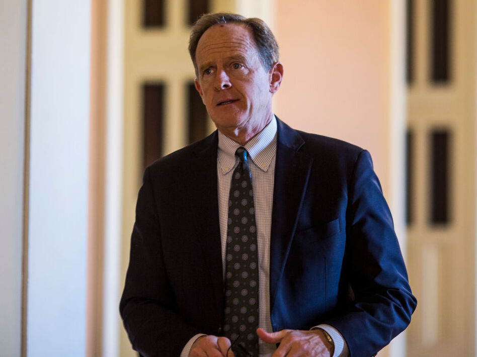 Sen. Pat Toomey. R-Pa., said he's returning to the private sector instead of running for reelection to his Senate seat. (Zach Gibson/Getty Images)