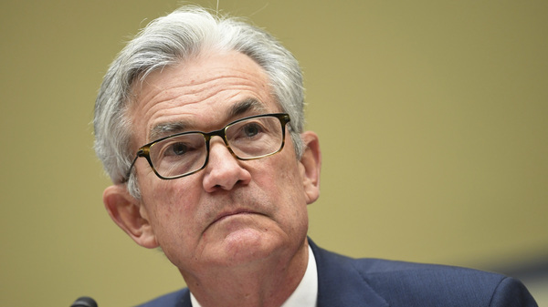 Federal Reserve Chairman Jerome Powell testifies last month during a House Select Subcommittee on the Coronavirus Crisis hearing. Powell continues to warn the U.S. economy needs more stimulus to recover from the pandemic.