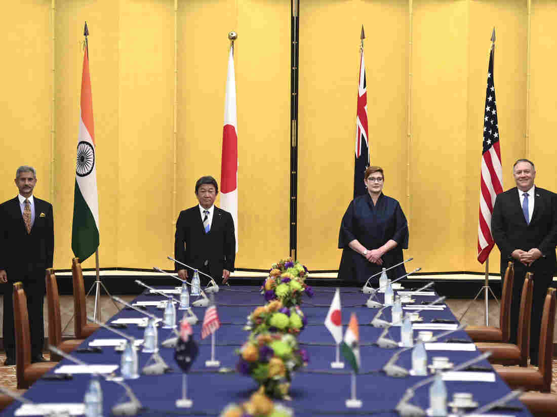 Foreign ministers from 4 nations meet in Tokyo