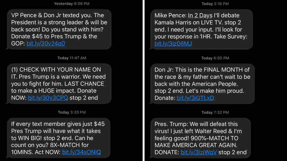 Getting Lots Of Political Messages On Your Phone? Welcome To 'The Texting Election'