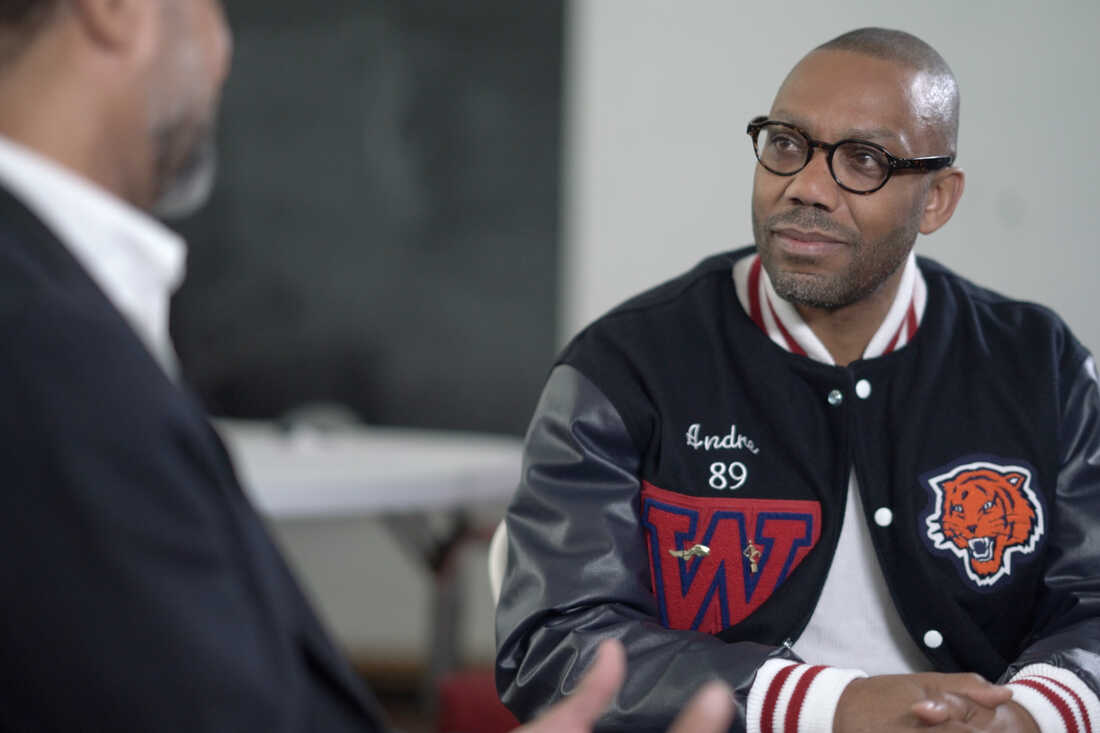 Andre Perry listening in Johnston school.