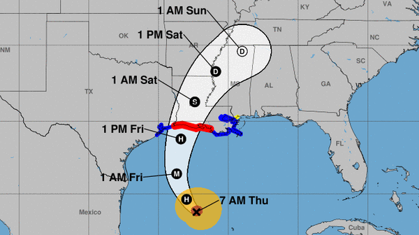 Hurricane Delta will strengthen as it heads toward the Louisiana coast, the National Hurricane Center says. The storm is expected to make landfall on Friday.