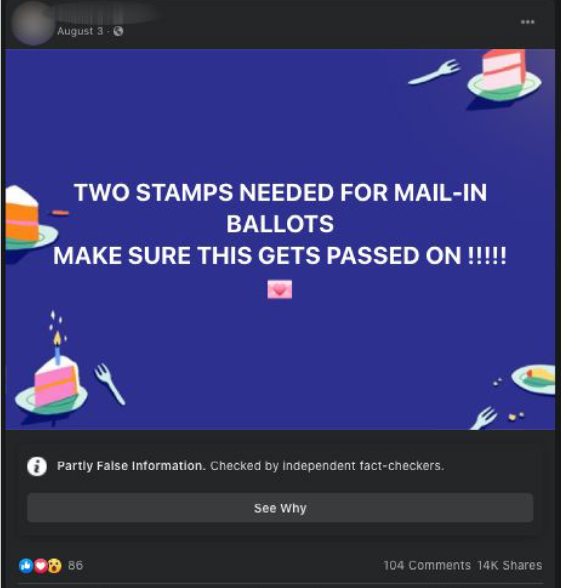 Tiny Changes Let False Claims About COVID-19, Voting Evade Facebook Fact Checks 4