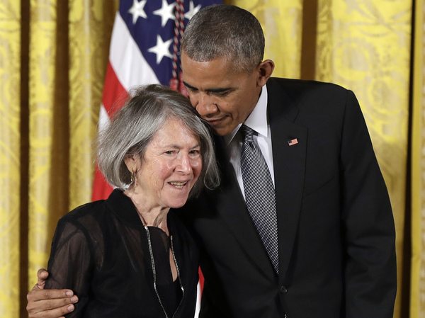 Poet Louise Glück received the the National Humanities Medal from President Barack Obama in 2016. On Wednesday, Glück was awarded the 2020 Nobel Prize in Literature.