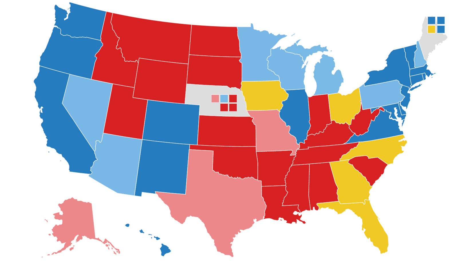 Image of: Npr Electoral Map Biden Expands Lead Over Trump In Swing States Npr