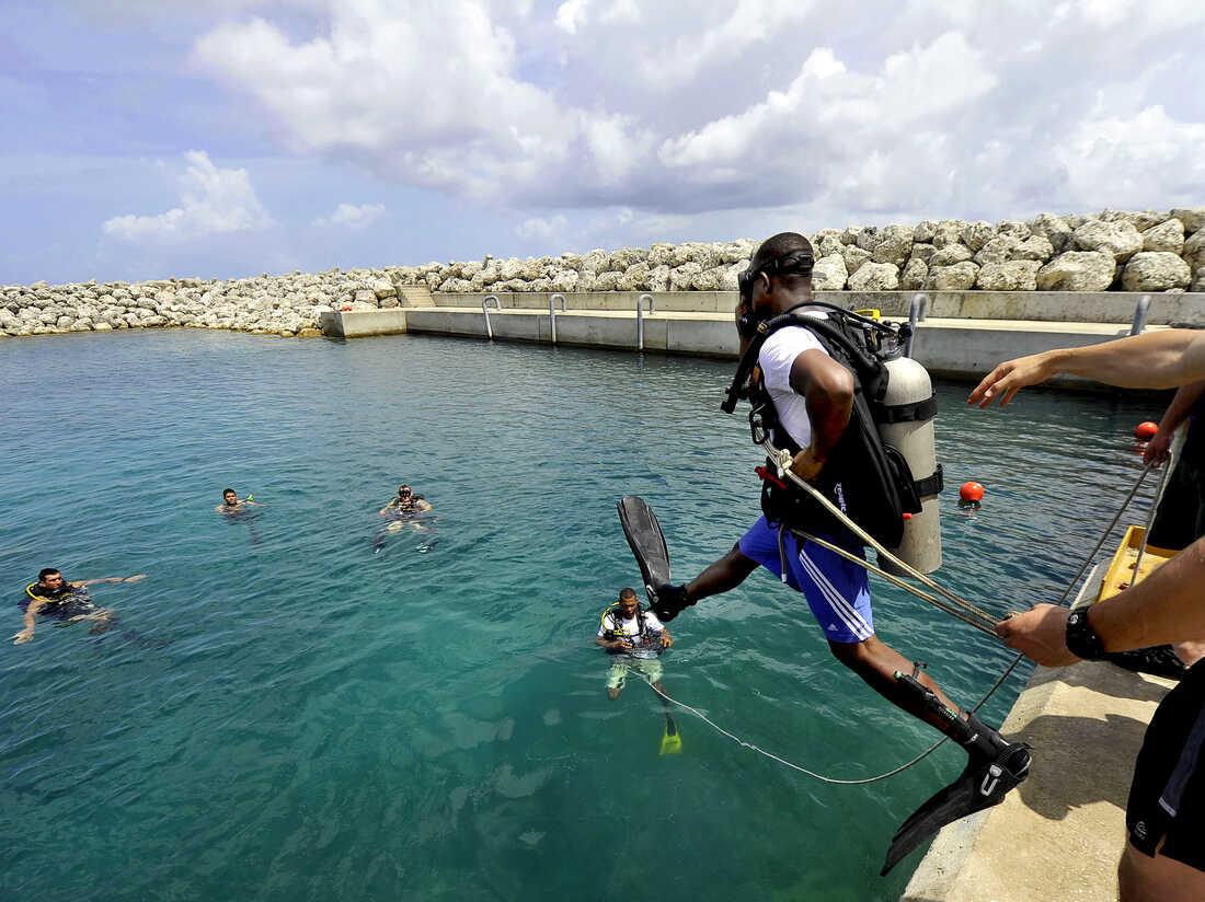 Taking the plunge in Bridgetown, Barbados