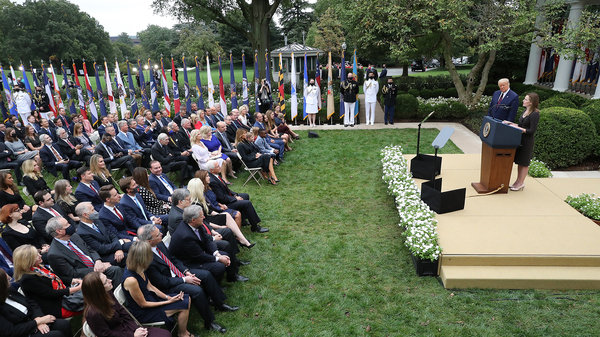 Numerous people have tested positive for the coronavirus after attending a Sept. 26 event in the Rose Garden at the White House to announce President Trump
