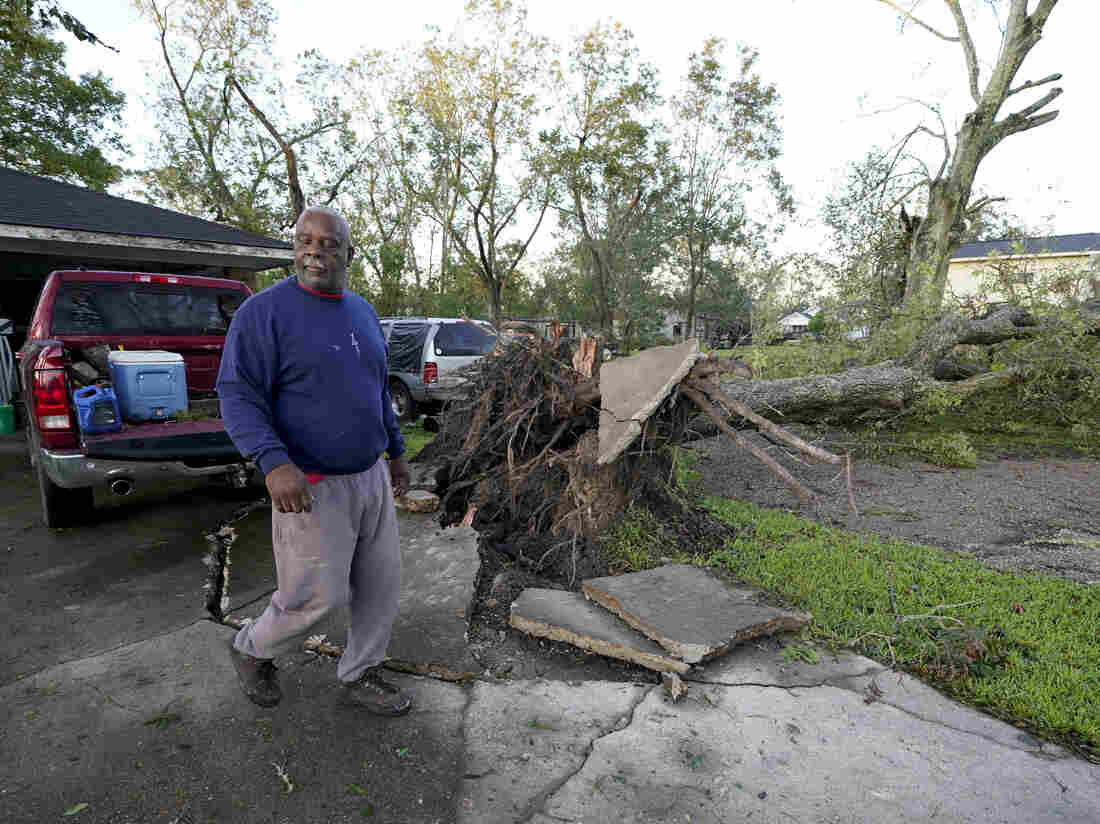 Debris From Hurricane Laura Set Loose During Delta Landfall in Louisiana