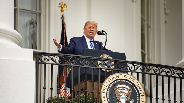 President Trump addressed a rally on Saturday, nine days after he tested positive for the coronavirus. Several health experts told NPR that based on what Trump
