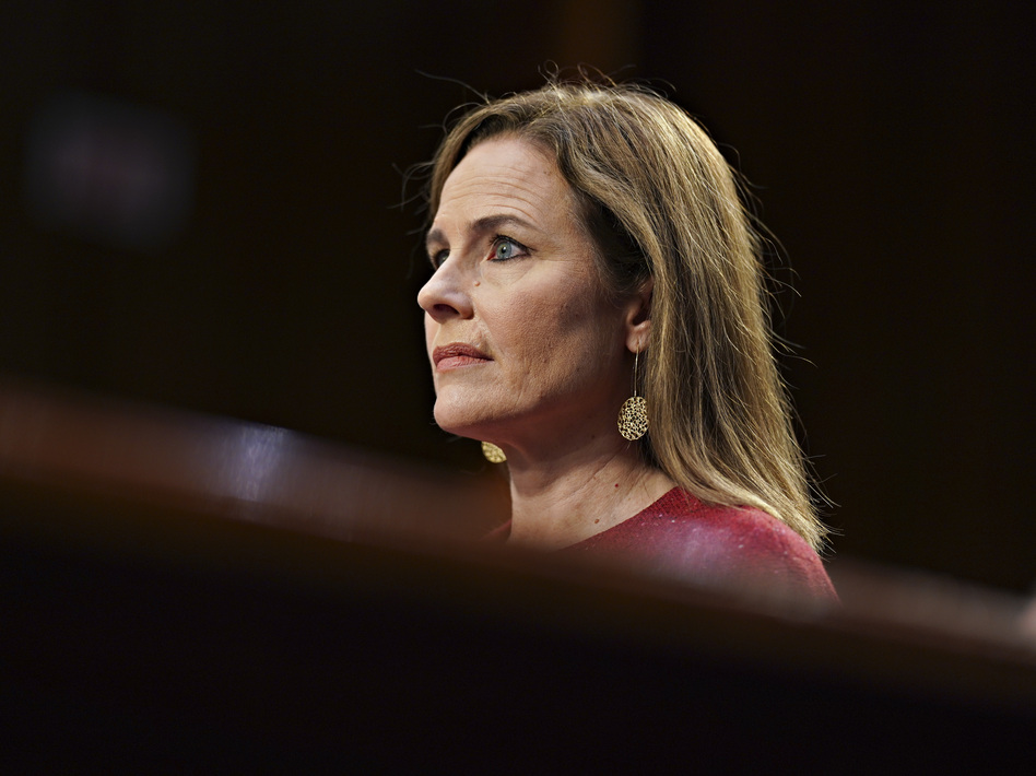 Sen. Dianne Feinstein asked Amy Coney Barrett about her opinions on abortion rights three times, and each time Barrett declined to give a legal assessment of the case. (Stefani Reynolds/AP)