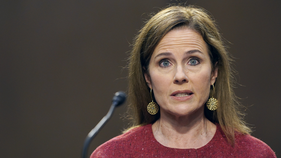 Supreme Court nominee Amy Coney Barrett was asked her views on interpreting the meaning of the Constitution in her second day of confirmation hearings. (Susan Walsh/Pool/Getty Images)