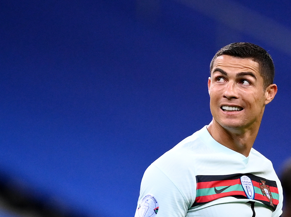 Portugal's forward Cristiano Ronaldo looks on during the Nations League football match between France and Portugal, on Sunday. Ronaldo has tested positive for the coronavirus.