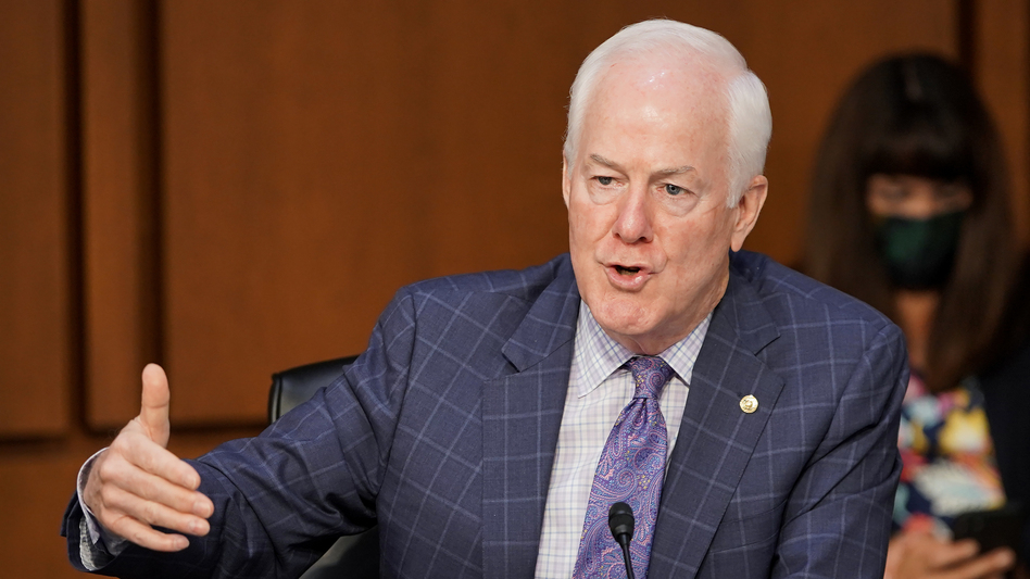 Sen. John Cornyn, R-Texas, speaks on the fourth day of confirmation hearings for Supreme Court nominee Judge Amy Coney Barrett. (Greg Nash/Pool/Getty Images)
