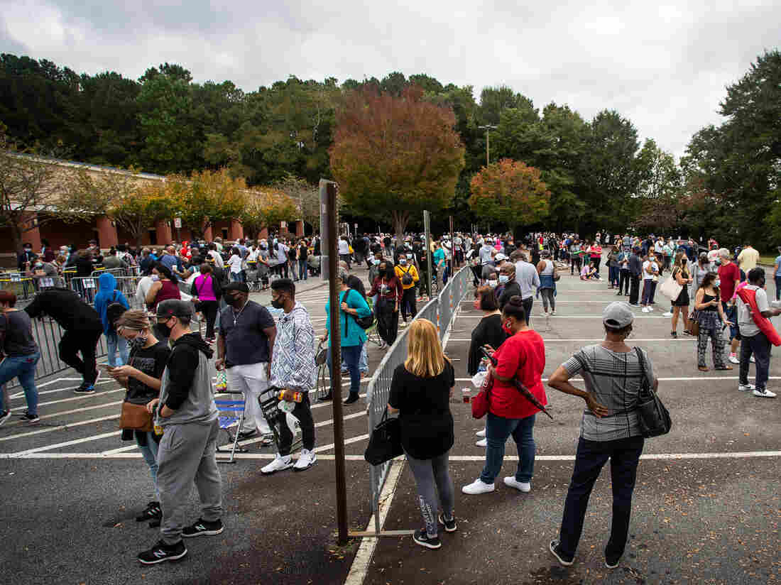 Why Do Nonwhite Georgia Voters Have To Wait in Line for Hours? Too Few Polling Places 2