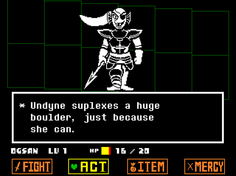 Undertale allows you — and eventually encourages you — to resolve monster encounters without violence.