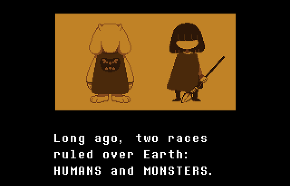 In Undertale, you play as a child who falls into a pit of monsters.