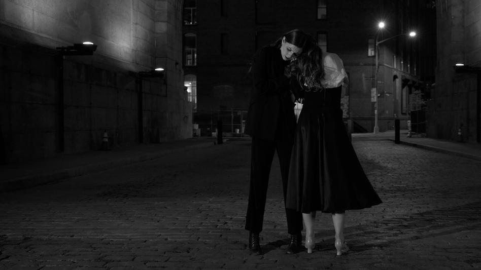 Jordan Betscher and Courtney Crain dancing to Irving Berlin's