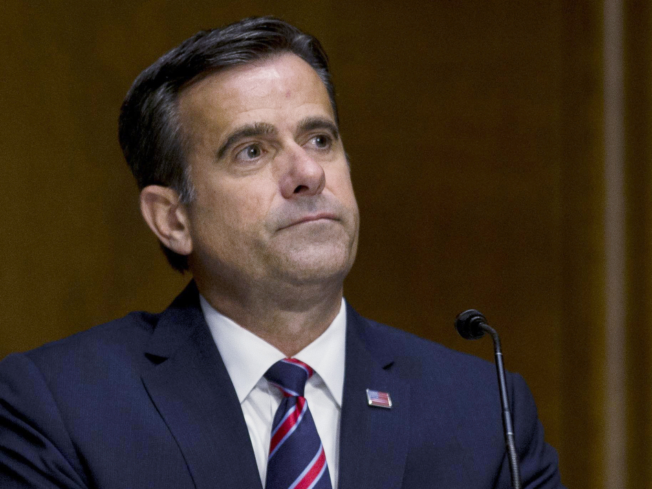 Director of National Intelligence John Ratcliffe, seen above during his earlier tenure in the House, delivered a briefing on election threats on Wednesday evening. (Gabriella Demczuk/AP)