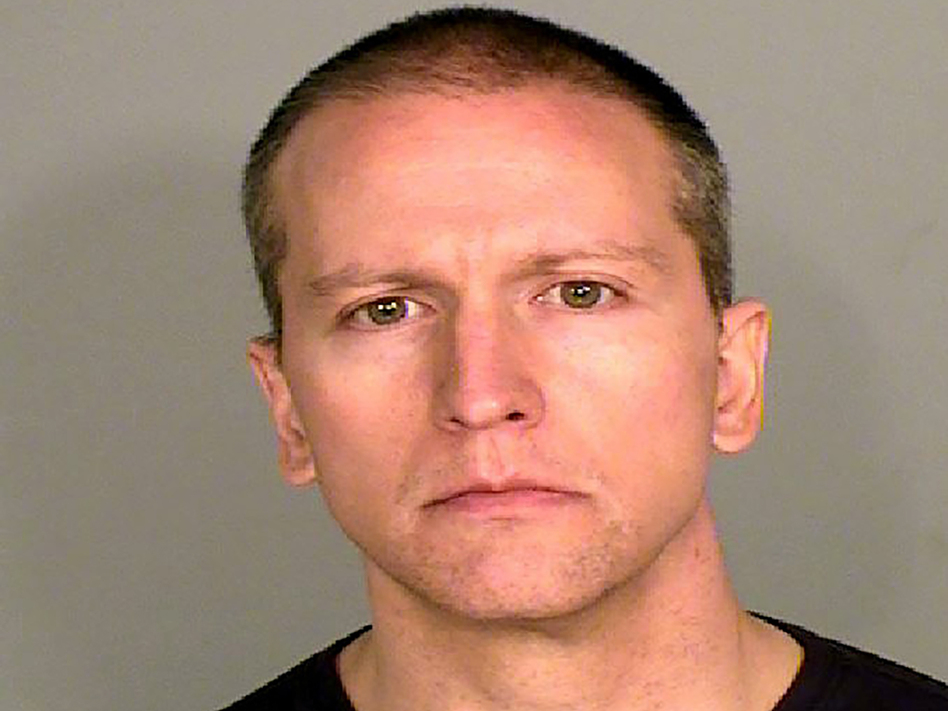 Former Minneapolis police officer Derek Chauvin, who was captured on cellphone video kneeling on Floyd's neck for several minutes, still faces a higher charge of second-degree murder. (Brommerich/AP)
