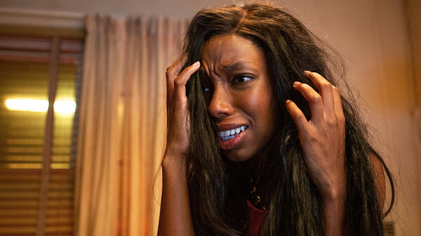 Elle Lorraine plays a woman whose hair has a mind of its own in Justin Simien's new horror-comedy.