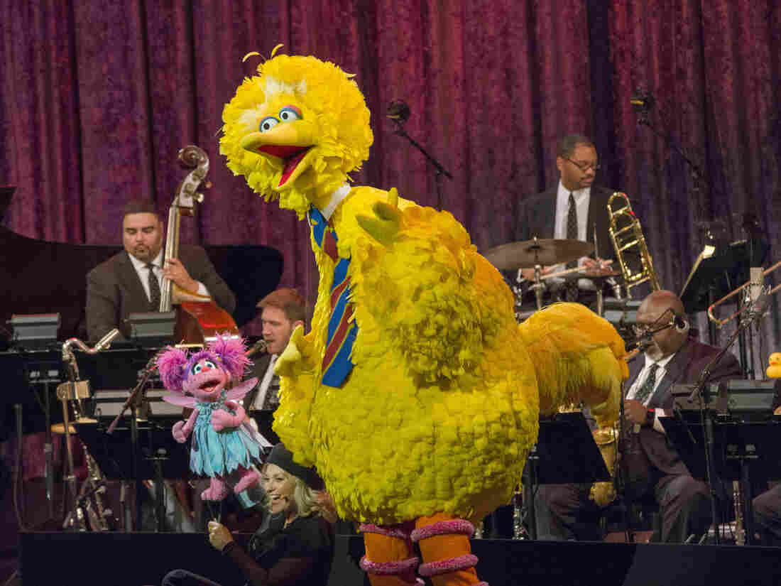 A Swingin' Sesame Street Celebration: 50 Years and Counting with the Jazz at Lincoln Center Orchestra with Wynton Marsalis, Elmo, Abby, Big Bird, Grover, Oscar the Grouch, Rosita, Bert & Ernie and Count Von Count.