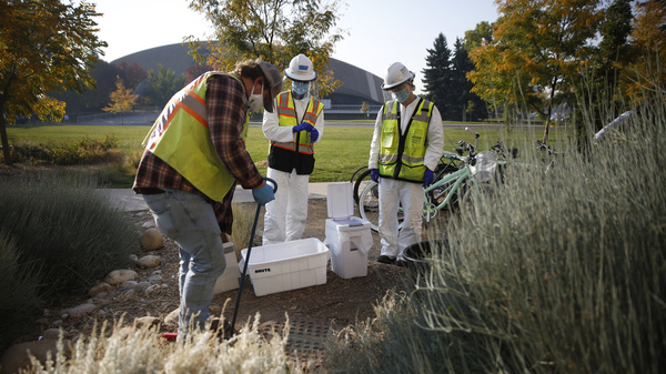 In Fort Collins, Colorado State University has been running a robust wastewater testing program since the start of the fall semester. Researchers regularly collect samples from 17 sites across campus, including the Westfall Hall dormitory.