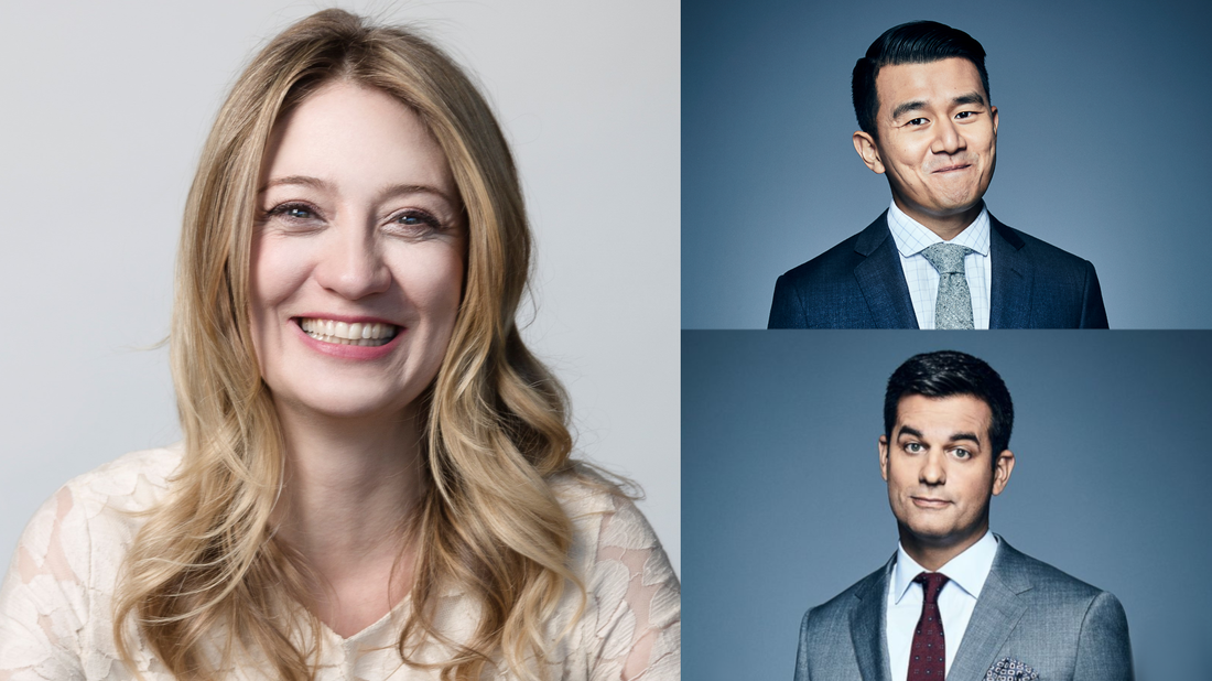 Heidi Schreck wrote and stars in What the Constitution Means to Me. Daily Show correspondents Ronny Chieng and Michael Kosta.