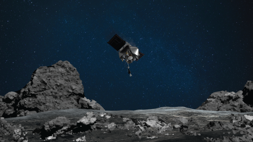 A NASA spacecraft sent out to collect rocks from an asteriod is so jammed full that some material is drifting into space. A team has devised a way to seal the capsule to prevent further loss.