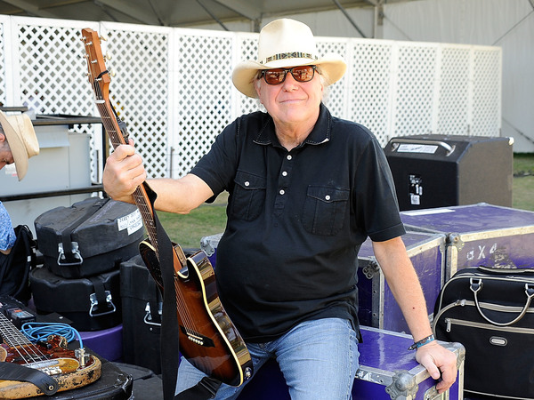 """Country legend Jerry Jeff Walker poses backstage at a country music festival in 2009. Walker, best known for his hit """"Mr. Bojangles,"""" died Friday after complications from throat cancer. He was 78."""