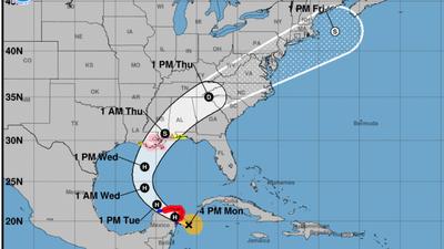 Now A Hurricane, Zeta Is On Track To Hit Louisiana On Wednesday