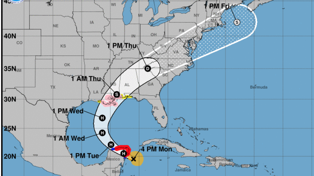 Now A Hurricane Zeta Is On Track To Hit Louisiana On Wednesday – NPR