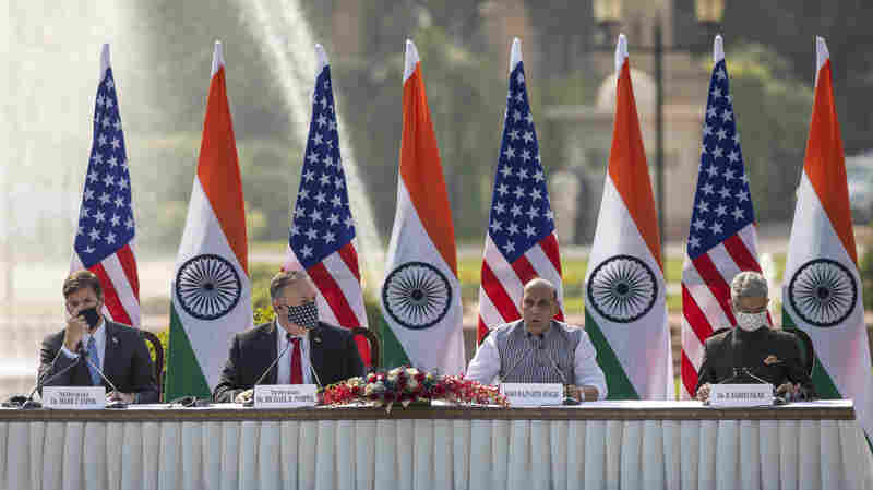 U.S. And India Sign Military Agreement During Pompeo, Esper Trip