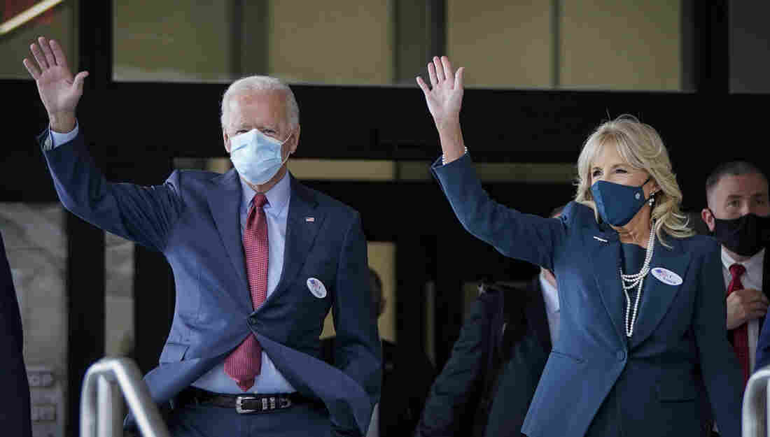 Joe Biden votes early prior to upcoming USA  presidential election