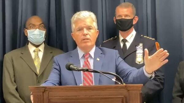 Suffolk County Executive Steve Bellone announced fines on Wednesday against a Long Island, N.Y., country club and a resident for hosting events in violation of social gathering limits.