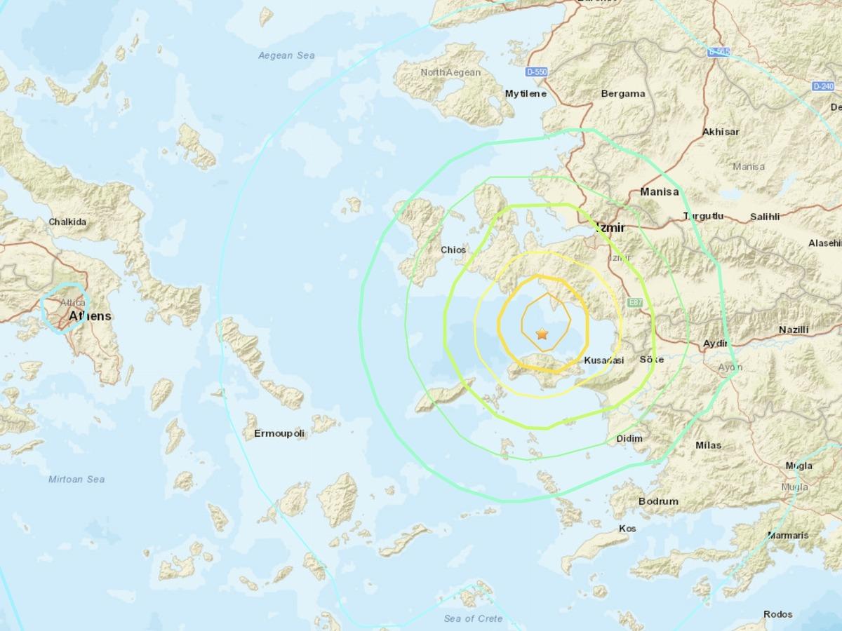 7.0 Magnitude Quake Strikes In Aegean Sea; At Least 14 ...