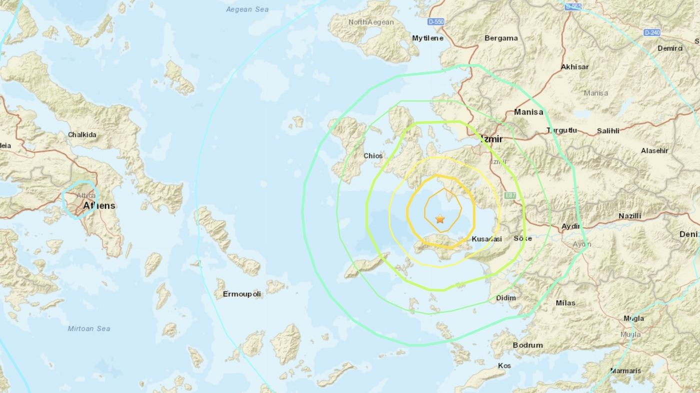 7.0-Magnitude Earthquake Strikes In Aegean Sea, 4 Dead In Turkey