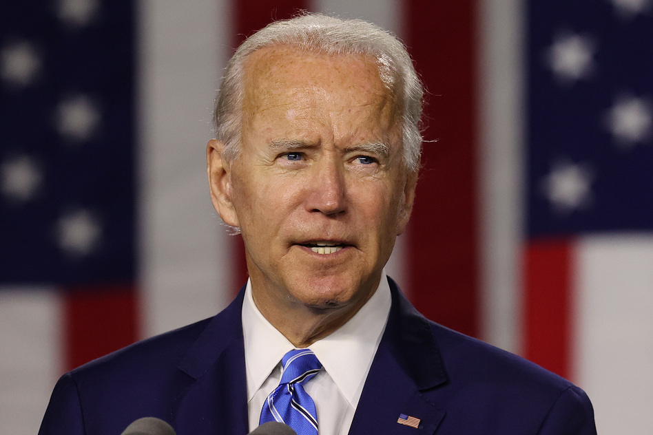 "From the moment he launched his campaign, Joe Biden focused on what he called a ""battle for the soul of our nation."" (Chip Somodevilla/Getty Images)"