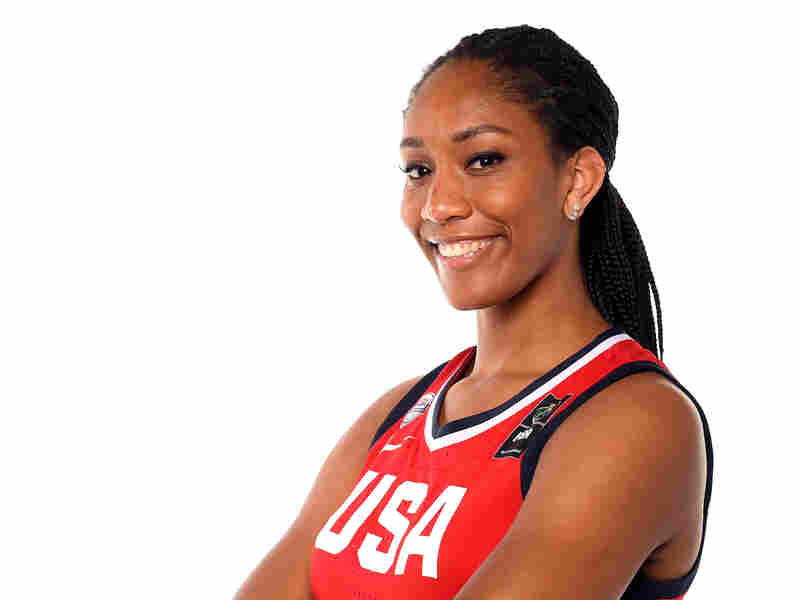 A'ja Wilson poses for a portrait during the Team USA Tokyo 2020 Olympics photo shoot on Nov. 20, 2019 in West Hollywood, Calif.