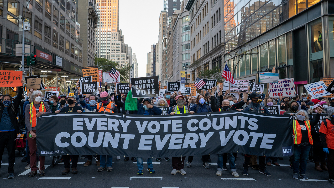 'Count Every Vote!': Large Postelection Protests Seen In Several U.S. Cities – NPR