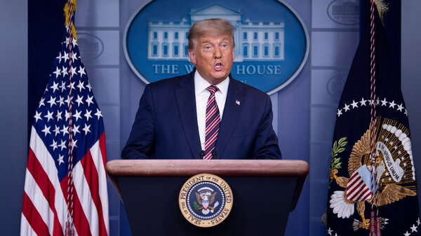 President Trump speaks in the Brady Briefing Room at the White House on Thursday as the presidential election remains tight with Democratic nominee Joe Biden ahead in the electoral count.