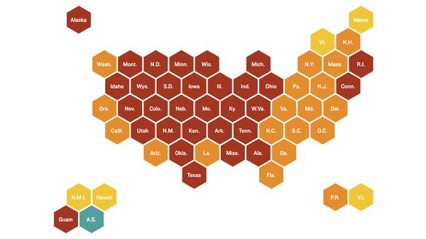 Where COVID-19 risk is highest, Nov. 6, 2020