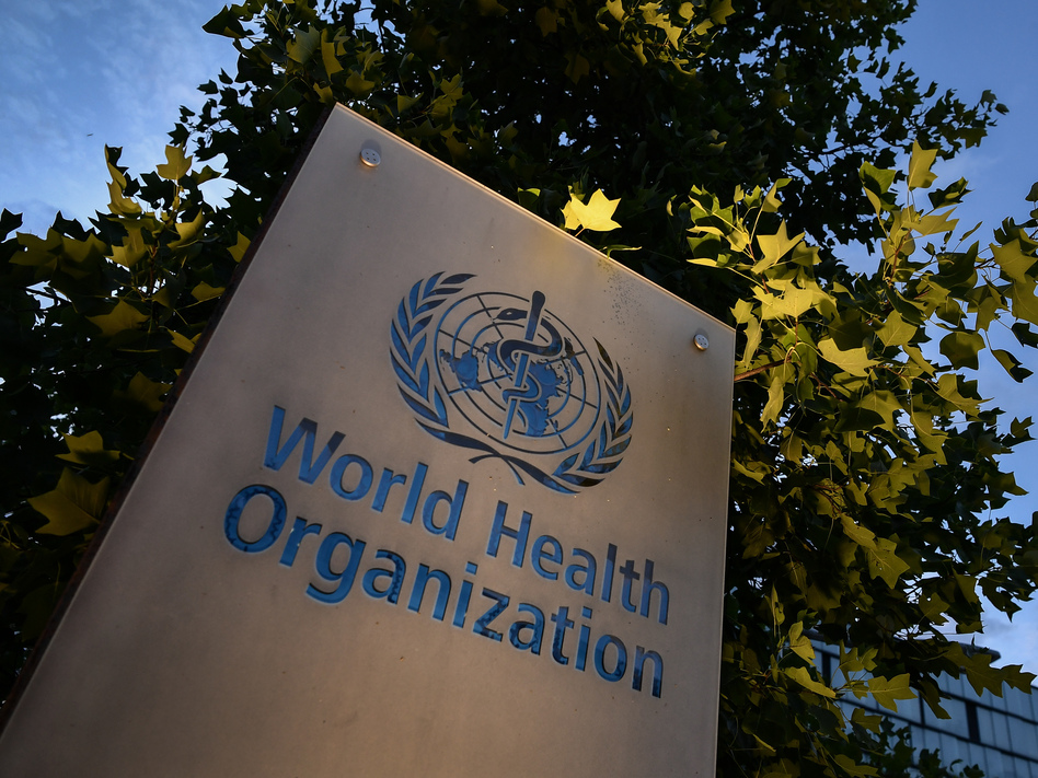 The World Health Organization, a U.N. agency founded in 1948, is headquartered in Geneva, Switzerland. Trump had pledged to withdraw U.S. participation by July 2021. Biden says he will rejoin on the first day of his administration. (Fabrice Coffrini /AFP via Getty Images)
