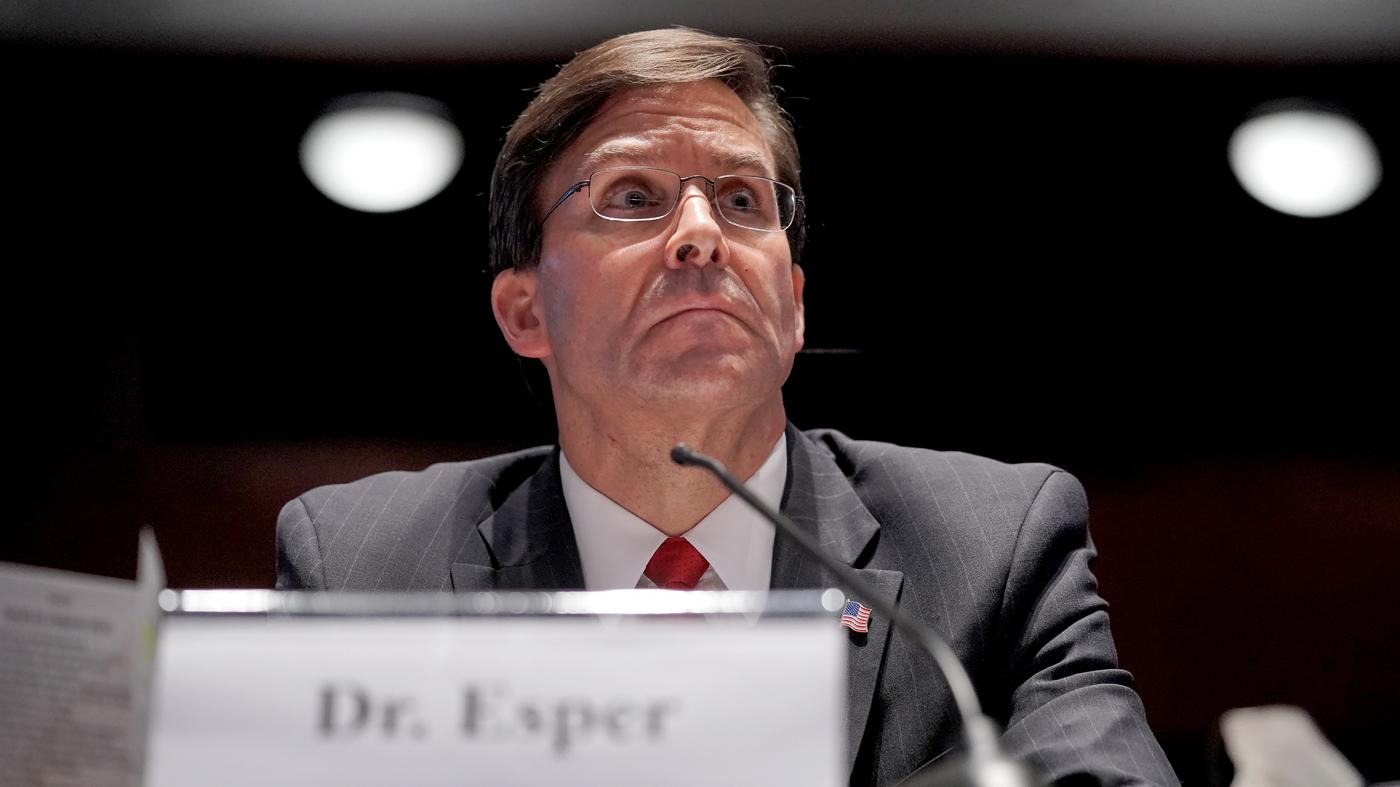 Trump Fires Mark Esper His Secretary Of Defense – NPR