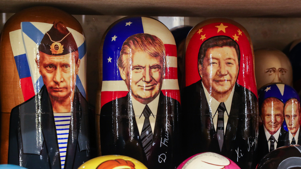Russian dolls with the likenesses of Russia