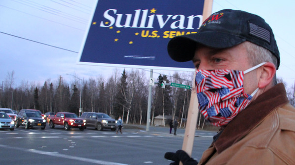 Sen. Dan Sullivan, R-Alaska, won re-election, giving Republicans control of 50 seats in the Senate with two races still outstanding.